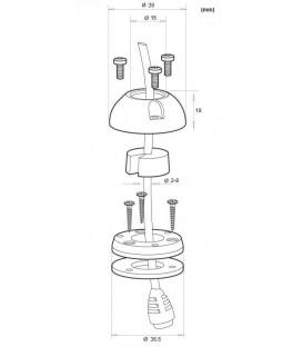 DeckSeal DS16-P Vattentթ)t genomfթԳring med plasthթԳlje