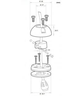 DeckSeal DS21A-P Vattentթ)t genomfթԳring med plasthթԳlje