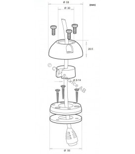 DeckSeal DS30-P Vattentթ)t genomfթԳring med plasthթԳlje