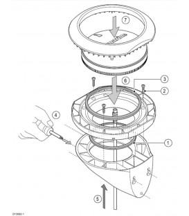 GPS/MicroTalk Clamshell Riser Kit