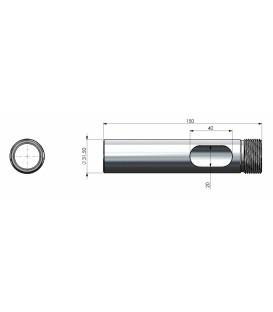 """Adapterrör BSP1""""x11 (utv gänga) till 1"""" x 14 (inv gänga)"""