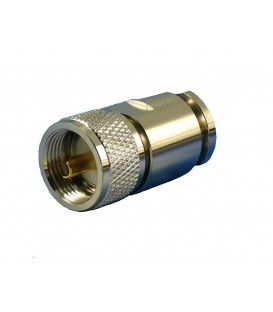 Skruvkontakt PL259 (UHF) hane fթԳr RG213